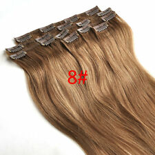 Full Head Set Clip in Remy Hair Extensions 100% Human Hair 15''18''20''24''28''