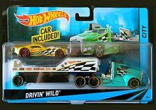 Hot Wheels Drivin' Wild. Nitro Doorslammer and Transporter. BDW60. NEW in Pack!