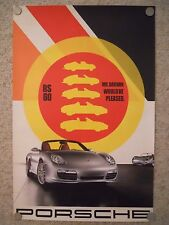 """2008 Porsche Boxster RS-60 Roadster """"Mr Darwin"""" Showroom Advertising Poster RARE"""