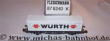 Würth Vagón Contenedor Fleischmann 87 8240 Nuevo 1:160 N HR5 Μ