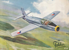 FOKKER S-14 MACHTRAINER - BROCHURE AND PILOT'S NOTES