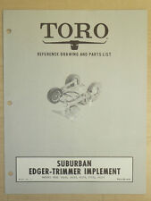 Toro Suburban Edger, Trimmer Owners, Operating And Parts Manual Implement