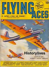 Flying Aces Magazine Aug.1941 Schomburg Cover Japan Air Power Douglas B-19
