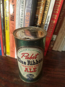Pabst Blue Ribbon Genuine Dry ALE 12oz Flat Top Beer Can  Higher Grade!