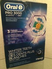 Oral B Pro 3000 3D White Bluetooth Smart Electric Toothbrush.