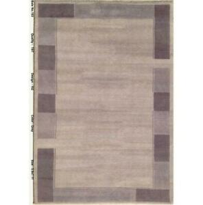6x8 Hand-Knotted Modern Tibetan Gray Rug B-79193