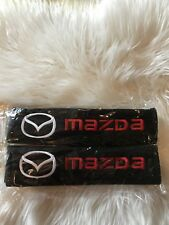 Us Stock 2pcs Mazda Embroidered Seat Belt Shoulder Pad Covers/High Quality