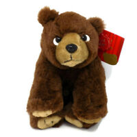 """New Keel Toys Grizzly Bear Brown Stuffed Animal Plush Toy 9"""" Tall MWMT"""