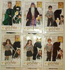 6 Harry Potter Bambole dolls Ron Hermione Minerva Ginny Dumbledore Hogwarts NRFB