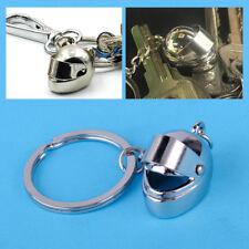 Ring Motorrad Helm Schlüsselanhänger Metall Key Chain Buckle Silber Geschenk NEU