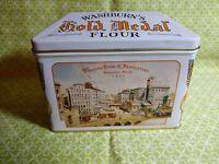 VINTAGE Washburn's Gold Medal Flour Recipe Tin Box General Mills