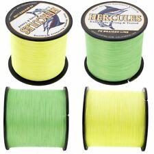 Braided Super PE 100/300/500/1000M Fluorescent Yellow Green Fishing Braid Line