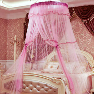 Lace Dome Mosquito Net Canopy Fly Insect Protect Princess Double King Queen