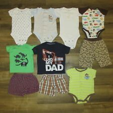 Lot of Infant Boys Size 3 Months Mixed Summer Clothes -10 Pieces,All Carter's
