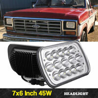 Fits 7X6 Crystal H4 Conversion Headlights Head Lamps 7 Inch X 6 Inch H6014 H6054