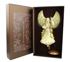 "JAY STRONGWATER ANJELIC REJOICING ANGEL GLASS ORNAMENT TREE TOPPER 15"" TALL NEW"