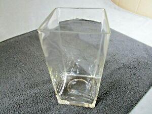 Lovely Tall Square Glass Modern Flower Vase