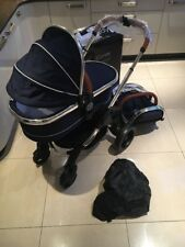 NEW Icandy Peach Royal Blue Seat Unit And Carrycot FREE POST