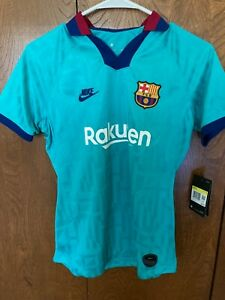 Nike FC Barcelona 19/20 Stadium Third Women or Young Person Soccer Jersey NWTs