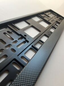 CARBON style holder for EURO license plate frames FOR ALL CARS