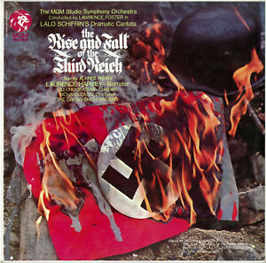 """""""THE RISE AND FALL OF THE THIRD REICH"""" Laurence HARVEY (LP 33 tours UK) MINT"""