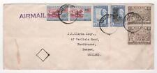 1957 MALAYA Air Mail Cover KUALA LUMPUR to EASTBOURNE GB SG3 SG5 SG123 SG124