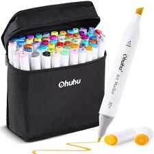 Ohuhu Marker Pen 60 Colors Comic Oil-Based Alcohol Marker Carrying Case JAPAN
