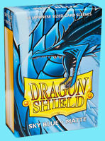 60 DRAGON SHIELD SKY BLUE MATTE JAPANESE Card Sleeves Mini Deck Protector ccg