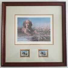 1989 Georgia Waterfowl Stamps Framed Print Ralph McDonald Signed Numbered 1980