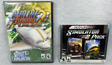 Airline Tycoon 2 Gold Edition Trainz Simulator 2 Pack PC DVD ROM Games Lot of 2