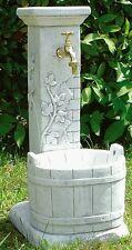 Fontana in cemento e polvere di marmo per esterno e giardino con secchio tinozza