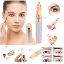 Electric Eyebrow Facial Hair Remover Women's Brows Painless Trimmer LED Light US