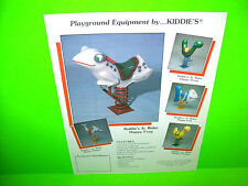 Kiddies Vintage Playground Equipment Promo Sales Flyer Dolphin Frog Worm Fish