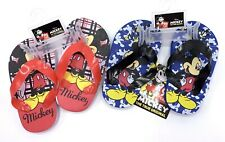 Lot Of 2 Mickey Mouse Infant/Toddler Flip Flops Size 3/4 Baby Beach Sandals