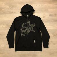 Metal Mulisha Rockstar Mens Black Graphic Hoodie Sweat Shirt Cotton Poly Size L
