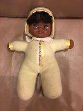 "Mattel Vintage 1983 African American Baby Doll Plush Soft Toy Cloth Body 12"""