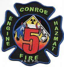 "Conroe  Station - 5 / HAZMAT, TX (4"" x 4"" size) fire patch"
