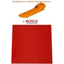 1 Authentic LEGO Separator. Plus Bonus 1 Red 10 x 10-inch compatible base plate