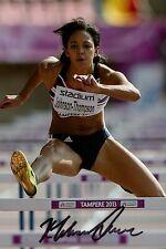 More details for katarina johnson-thompson signed 6x4 photo olympics heptathlete autograph + coa