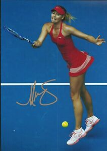 Maria Sharapova Autographed signed photo
