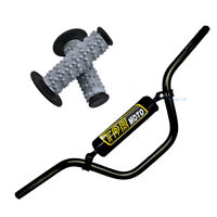 "7/8"" 22mm Handlebars Tubes + Grey Hand Grip TTR 110cc 125cc YZ 250 Pit Dirt Bike"