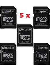 5 Adattatori Micro SD HC Kingston