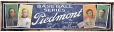 Antique Style T206 Piedmont Blue Back Wood Printed Sign AWESOME!! Ty Cobb 6x24