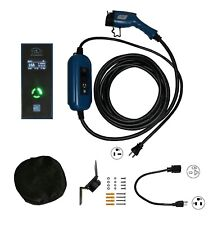 EV Charger Level 2 LCD 100-240V 16A/13A/10A/8A Adjustable 25FT J1772 A EVSE PHEV