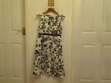 Fever Dress Size 10 Cream & Black