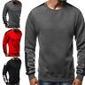 Mens Pullover Long Sleeve Crew Neck Sweatshirt Casual Autumn Jumper Tops M-3XL