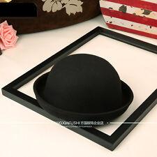 Vintage Women's Wool Hat Felt Elegant Floppy Bowler Fedora Beret Warm Beanie Cap