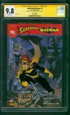 Superman Batman 3 CGC 2XSS 9.8 French Ed Jim Lee Williams Sign Batgirl 12/07
