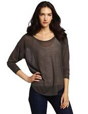 LNA Long Sleeved Crescent Crew SEPIA T-shirt Top Shirt FW1240 Brown Olive Green