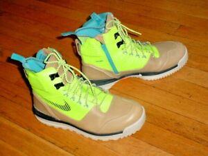 Nike Lunar Terra Arktos Mens 616179-700 Volt Khaki ACG Waterproof BOOTS Size 11